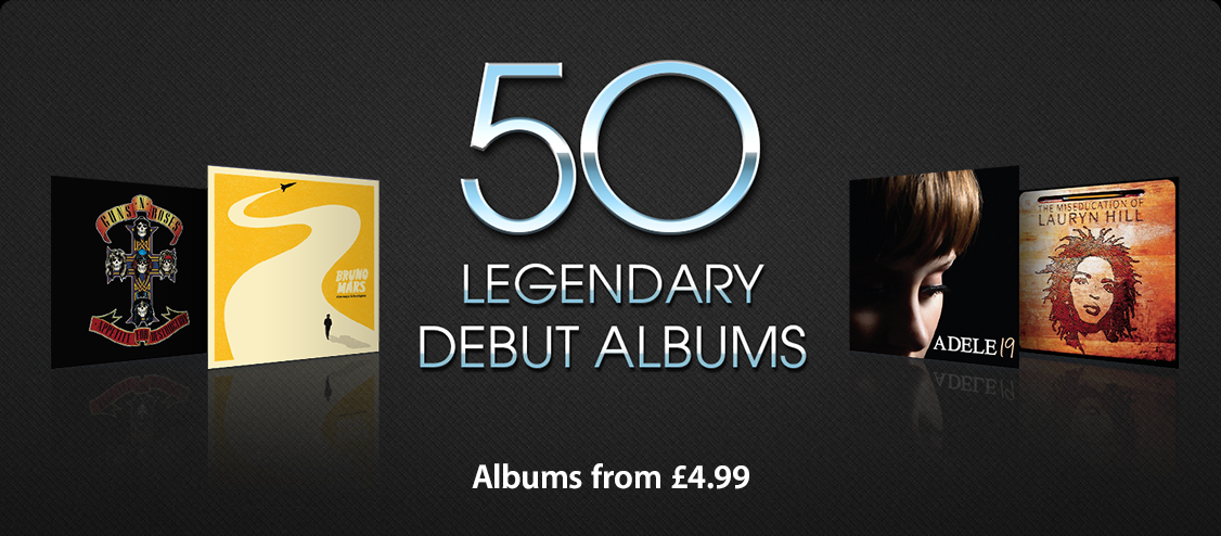 50 Legendary Debut Albums - Albums from £4.99