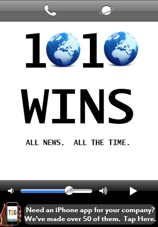 Image of 1010WINS for iPhone