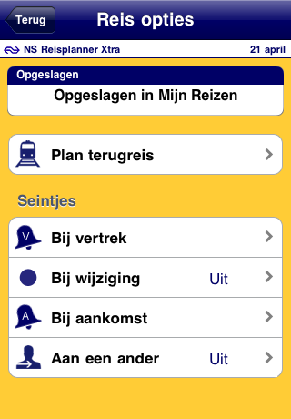 NS Reisplanner Xtra Screenshot