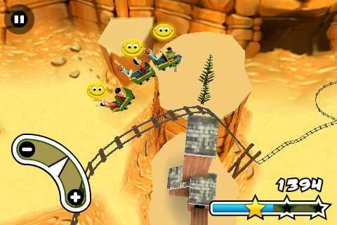 3D Rollercoaster Rush FREE Screenshot