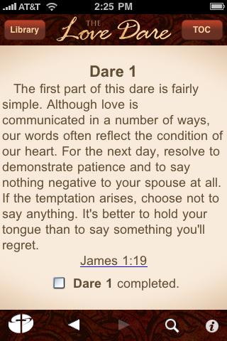 Love Dare Day 1