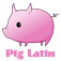Pig Latin with Emoji Icon