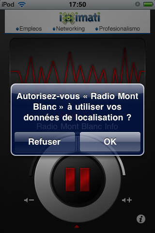 Radio Mont Blanc Player Screenshot