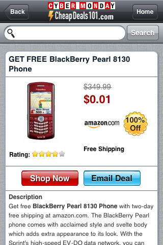CyberMonday  Deals 2010 – By CheapDeals101.com Screenshot