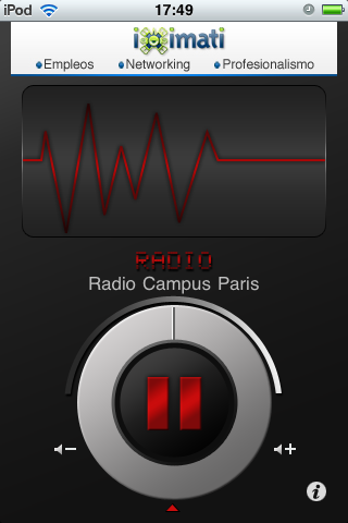 Radio Campus Paris Player Screenshot