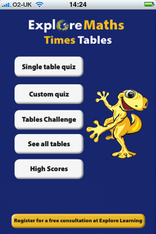 Explore Times Tables Screenshot