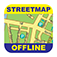 Detroit Offline Street Map Icon