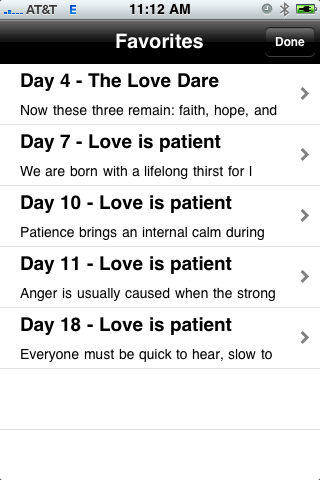 The Love Dare: Reminders Screenshot