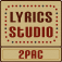 2Pac Lyrics Studio Icon
