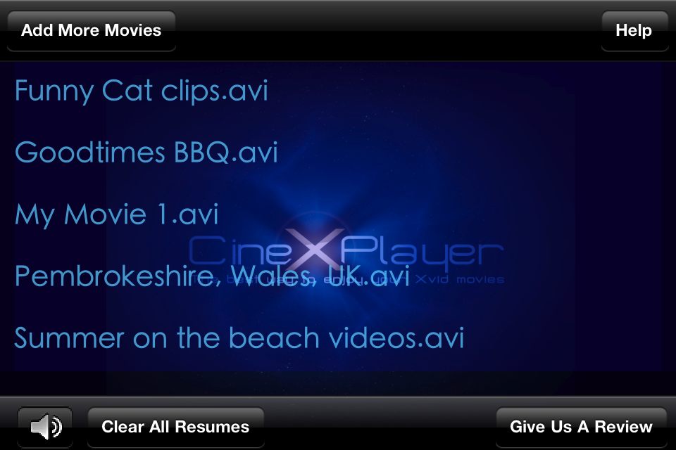 CineXPlayer = The best way to enjoy your Xvid movies Screenshot