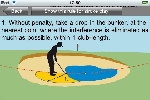 Golf Rules Quick Reference Screenshot
