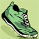 Green Boot Pedometer Icon