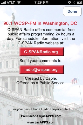C-SPAN RADIO Screenshot