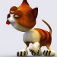 Action Cat 3D Free Icon