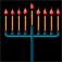 Menorah – Chanukah – חנוכה Icon