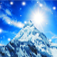 Snow Mountain Animated Clock Icon