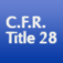 C.F.R. Title 28: Judicial Administration Icon