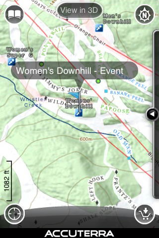 Whistler 3D – Blackcomb GPS Ski & Snowboard & Hiking Vancouver Olympics Trail Maps Screenshot