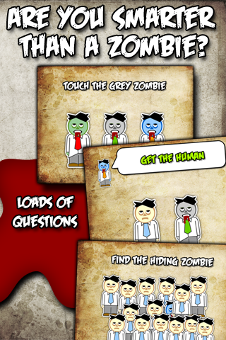 Brainless Zombie Quiz Screenshot