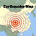 World Earthquake Map Icon