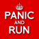 Panic and Run Icon