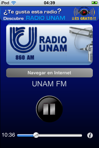 Radio UNAM Mexico XEUN Gratis Screenshot