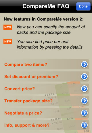 CompareMe Shopping Utility Screenshot