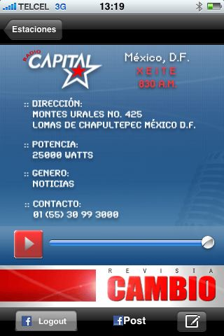 Radio Capital Screenshot