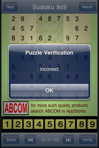 Image of Sudoku 9x9 Free for iPhone