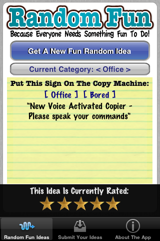 Free Random Fun Ideas Screenshot