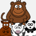5 Little Monkeys and Friends Icon