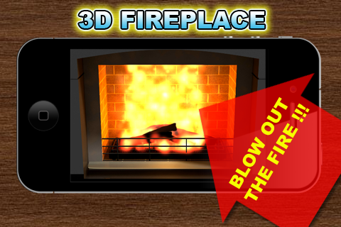 3D Fireplace Screenshot