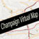 Champaign, Illinois Virtual Map Icon
