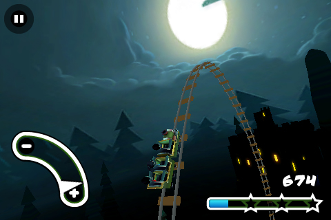 Haunted 3D Rollercoaster Rush FREE Screenshot