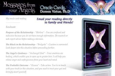 Messages from your Angels Oracle Cards – Doreen Virtue, Ph.D. Screenshot