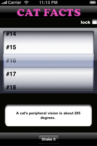 Cat Facts Screenshot
