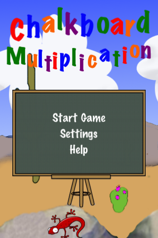 Chalkboard Multiplication Screenshot