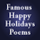 Famous Happy Holidays Poems by Feel Social Icon