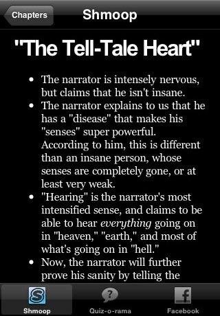 thesis for the tale tale heart Free essay: symbolism in the tell-tale heart by edgar allen poe like many of  edgar allen poe's works, 'the tell-tale heart' is full of death and darkness.
