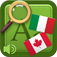 Universal Italian – Canadian French Audio Dictionary and Phrasebook Icon