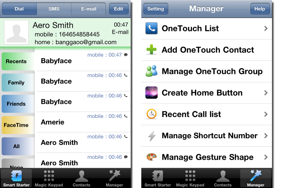 OneTouch – All-in-One Phone App Screenshot