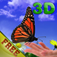 Finger Butterfly 3D Free-Interactive butterfly garden Icon
