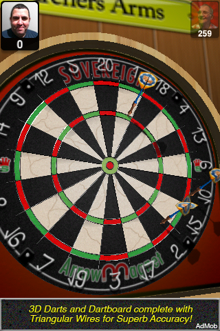 Bulls i 3D Darts Lite Screenshot