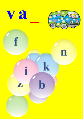 Kids Learn to Spell with Bubbles Free Screenshot