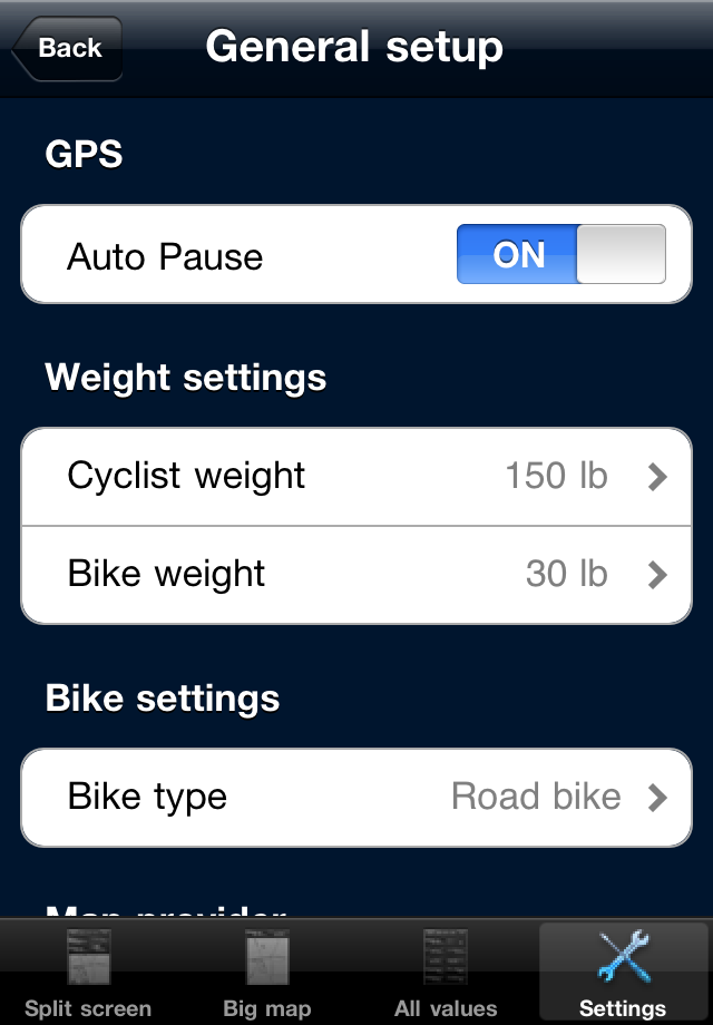 B.iCycle – GPS cycling computer for Road & Mountain Biking Screenshot