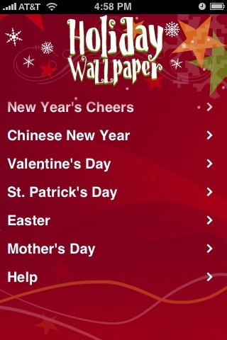 Image of Holiday Wallpaper for iPhone