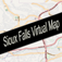 Sioux Falls, South Dakota Virtual Map Icon