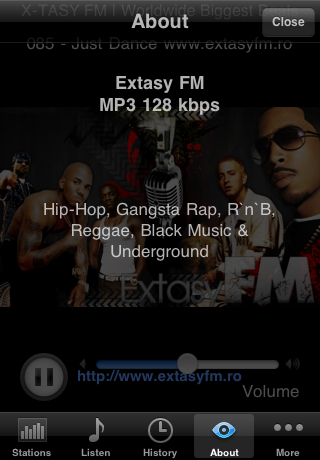 Hip Hop Radio Screenshot