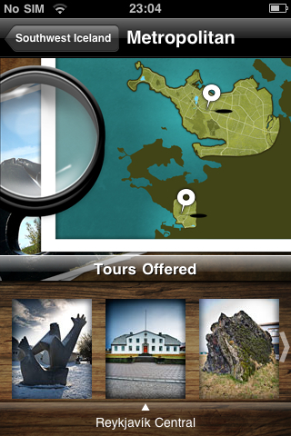 iPad Image of Locatify Iceland