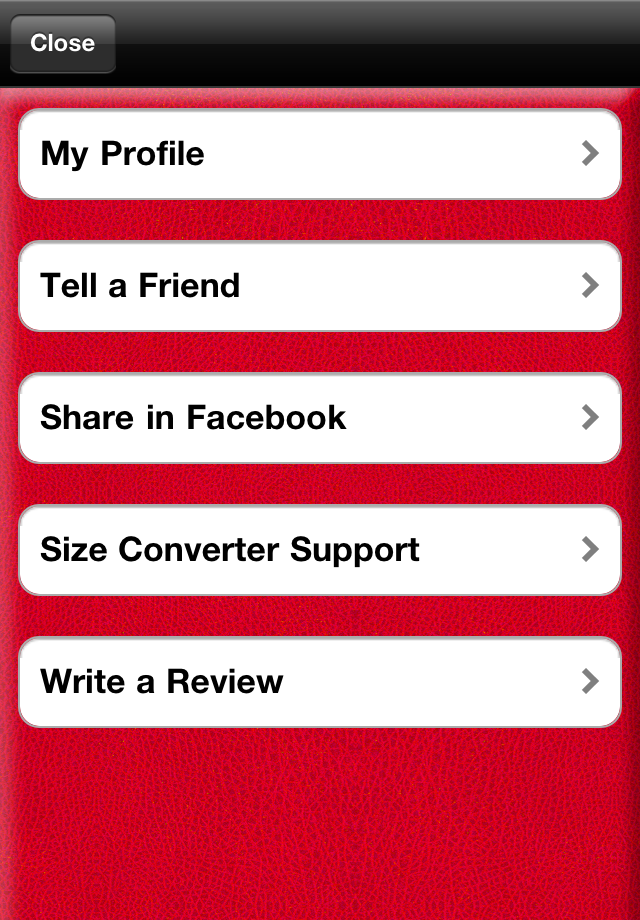 Size Converter™  –  for Ring, Shoes and Bra Size Screenshot